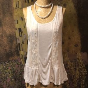 STUNNING Off White Tank by American Eagle Size L